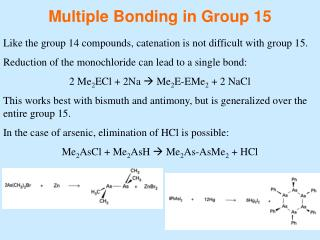 Multiple Bonding in Group 15