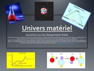 Univers matériel