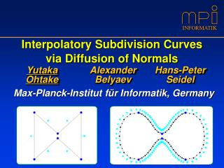 Interpolatory Subdivision Curves via Diffusion of Normals