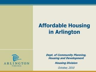 Affordable Housing  in Arlington