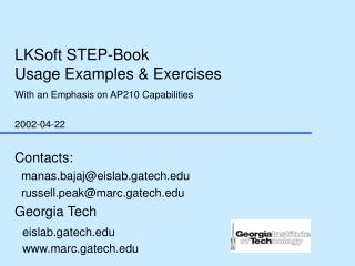 LKSoft STEP-Book  Usage Examples & Exercises With an Emphasis on AP210 Capabilities 2002-04-22