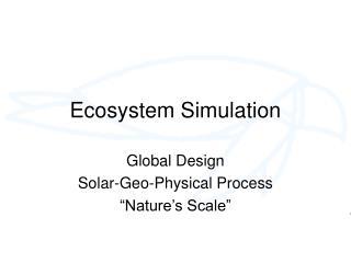 Ecosystem Simulation