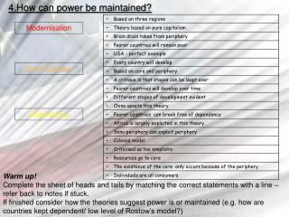 4.How can power be maintained?