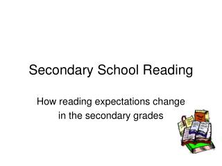 Secondary School Reading