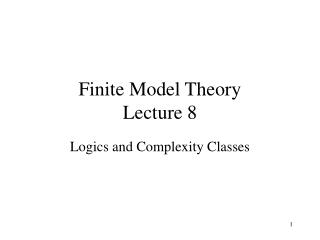 Finite Model Theory Lecture 8