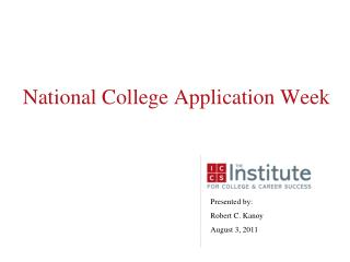 National College Application Week