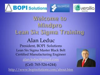 Welcome to Mindpro Lean Six Sigma Training