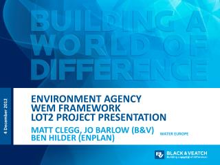 Environment  AgencY WEM Framework Lot2 project Presentation