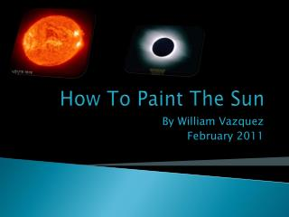 How To Paint The Sun
