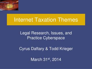 Internet Taxation Themes