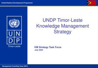 UNDP  Timor-Leste Knowledge Management Strategy