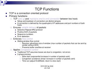 TCP Functions