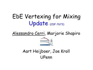 EbE Vertexing for Mixing Update  (CDF-7673)