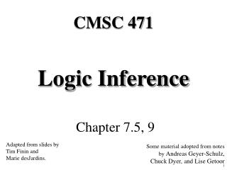 Logic Inference