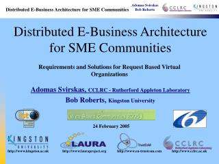 Distributed E-Business Architecture for SME Communities