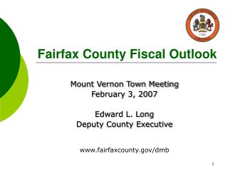 Fairfax County Fiscal Outlook