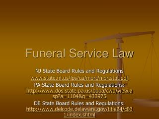 Funeral Service Law