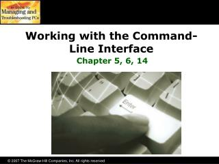 Working with the Command- Line Interface