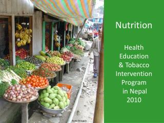 Nutrition Health  Education & Tobacco  Intervention  Program  in Nepal 2010