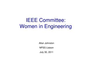 IEEE Committee: Women in Engineering