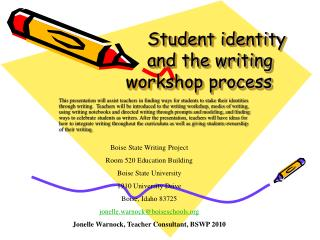 Student identity and the writing  workshop process