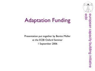 Adaptation Funding