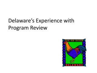 Delaware's Experience with Program Review