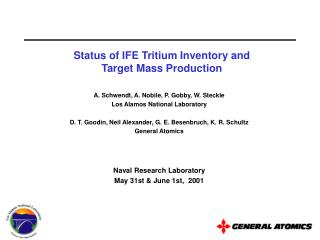 Status of IFE Tritium Inventory and Target Mass Production