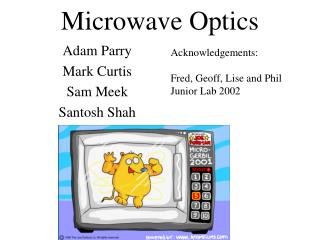 Microwave Optics