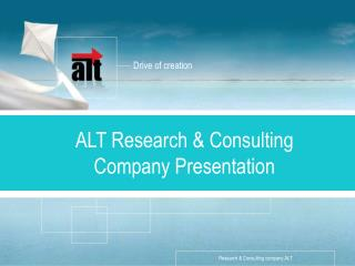 ALT  Research & Consulting  Company Presentation