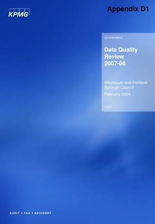 Data Quality Review 2007-08