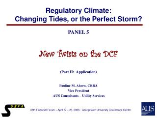 Regulatory Climate:   Changing Tides, or the Perfect Storm?