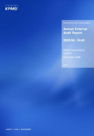 Annual External Audit Report 2005/06 - Draft