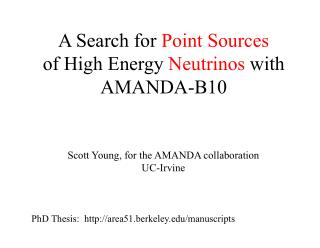 A Search for  Point Sources of High Energy  Neutrinos  with AMANDA-B10