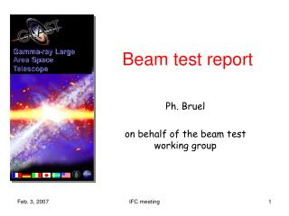 Beam test report