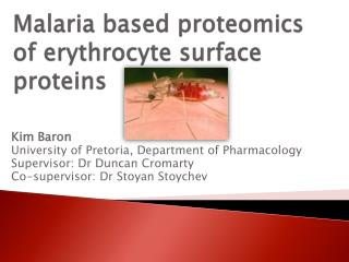 Malaria based proteomics of erythrocyte surface proteins