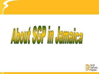 About SGP in Jamaica