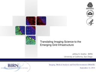 Translating Imaging Science to the Emerging Grid Infrastructure