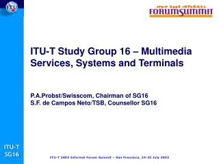ITU-T Study Group 16