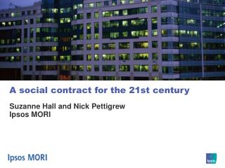 A social contract for the 21st century