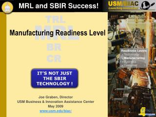 MRL and SBIR Success!