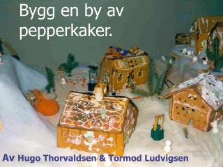Bygg en by av pepperkaker.