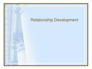 Relationship Development