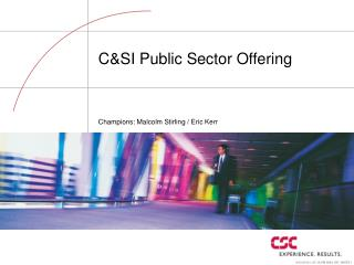C&SI Public Sector Offering