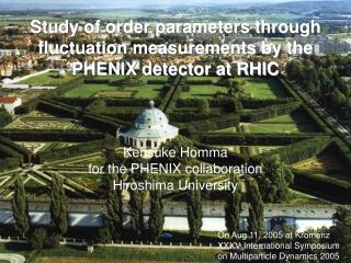 Study of order parameters through fluctuation measurements by the PHENIX detector at RHIC
