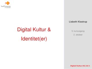 Digital Kultur & Identitet(er)