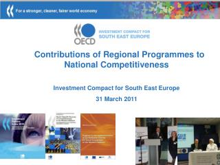 Contributions of Regional  Programmes  to National Competitiveness