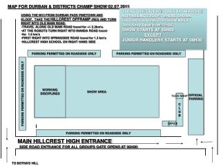 MAP FOR DURBAN & DISTRICTS CHAMP SHOW 02.07.2011