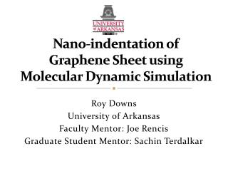 Nano-indentation of  Graphene Sheet using  Molecular Dynamic Simulation