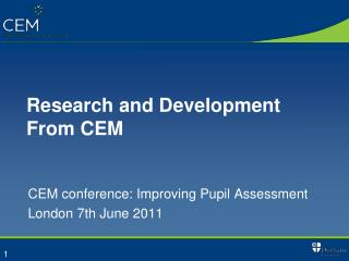 Research and Development From CEM